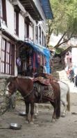 Street scene in Namche Bazaar