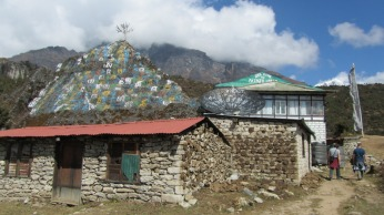 Yak dung drying on the walls