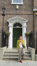 Mum outside John Street house